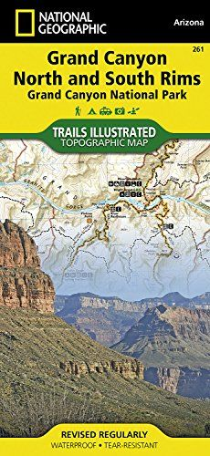 Grand Canyon North and South Rims Grand Canyon National Park National Geographic Trails Illustrated Map -- Continue to the product at the image link.