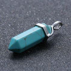 Natural Quartz Crystal Point Chakra Healing Gemstone Pendant Necklace Stone Gift $4.94