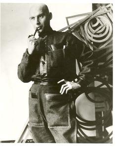 Rochenko wearing a uniform he designed (1924).