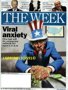 THE WEEK MAGAZINE MARCH 13 2020 VIRAL ANXIETY 19 VIRUS JACK WELCH BIDEN TRUMP BS Jack Welch, Biden Trump, The Week Magazine, Talking Points, Cover Pics, Comebacks, Magazines, Anxiety, March