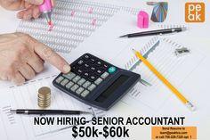 Peak is now hiring a senior accountant.  Apply at www.peakwi.com