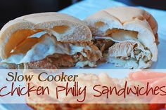 Chicken Philly Sandwiches – 75 Days of Summer Slow Cooker Recipes - these sandwiches are both tasty and easy. #SlowCookerSummerDinners