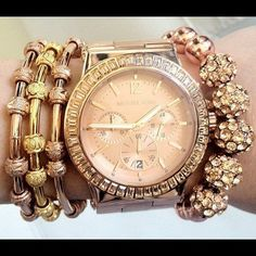 Elle Fowler Arm Candy (Rose Gold) Micheal Kors - tooooo stunning!