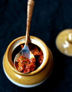Mango Pickle (Raw Mango Pickled in a Spice Mix with Gingelly Oil)