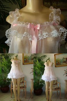 Baby Doll Dress Sissy Baby Organza & Lots of Lace Robe Baby Doll, Baby Doll Nighties, Baby Dolls, Timeless Fashion, Vintage Fashion, Vintage Style, Cristal Rose, Maid Dress, Edgy Outfits