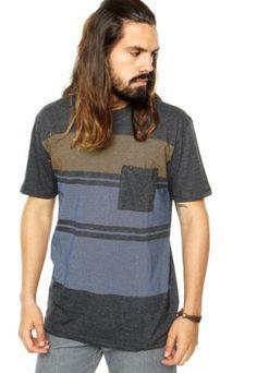 Camiseta Hang Loose Esp Streak Cinza