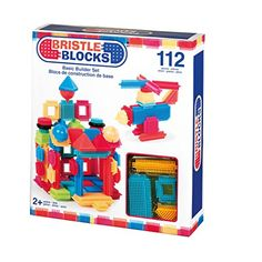 """I had these when I was a kid! Builds hand strength through imaginary play. """"Battat Bristle Blocks 112-Piece Basic Building Set"""""""