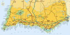 nice Map Portugal Algarve