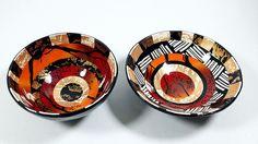 Ring / trinket bowls.  Left 95 mm diameter, right 115 mm diameter.  By Wendy Jorre de St Jorre.