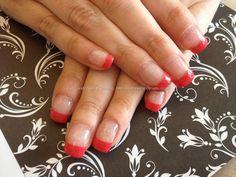 Acrylic overlay with gel polish tips
