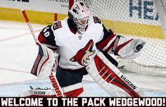 I would like to officially declare Scott Wedgewood a member of the pack! He will be patrolling the crease tonight in his first appearance as a Coyote! We all wish you the best of luck in net @wedgewall! // #Arizona #ArizonaCoyotes #Coyotes #AZ #Hockey #IceHockey #NHL #Flyers #Philadelphia #PhiladelphiaFlyers #Yotes #GoYotes #Goalie #StartingGoalie #Goaltender #Wedgewood #ScottWedgewood #Game #HockeyGame #Team #Sport #Sports #Fanpage #News #Info #Athlete #CoyotesCentral