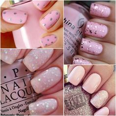 Pink nails collection Bling Nails, Wedding Nails, Finding Yourself, Nail Polish, Pink, Beauty, Natural, Collection, Nail Polishes