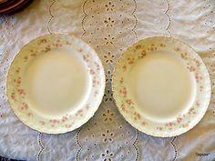 "2 Pope Gosser ""Florence"" Dinner Plates 10"" Fine China | eBay"