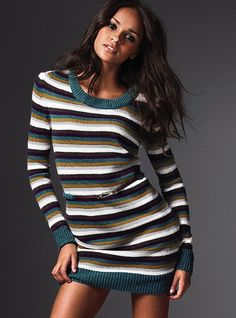 cute sweaterdress - with a scarf, leggings and boots for the winter!
