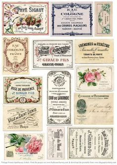 2019 vintage-french-apothecary-labels-sm-graphicsfairy More The post DIY Vintage Apothecary Jar Labels! 2019 appeared first on Vintage ideas. Decoupage Vintage, Diy Vintage, Images Vintage, Vintage Labels, Vintage Ephemera, Vintage Paper, Vintage Ideas, Printable Vintage, French Vintage
