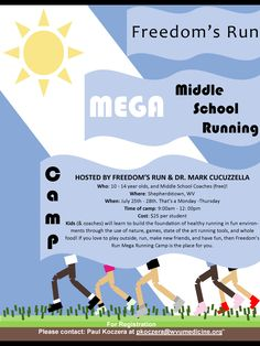 Middle School Running Camp!