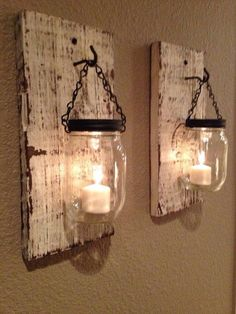 Hanging Mason jar candles - the best ones I've seen. I really want to make some of these!