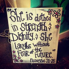 Cute painted canvas - my favorite bible verse!