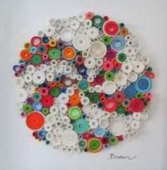 Beaux-arts tridimensionnel papier original, roulé le papier d'art, « Pinwheel » sur Etsy, 169,81€