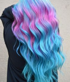 15 Hottest Hair Color Trends for Women in 2019 Cute Hair Colors, Pretty Hair Color, Hair Color Purple, Hair Dye Colors, Bright Hair Colors, Blue And Pink Hair, Unicorn Hair Color, Coloured Hair, Mermaid Hair