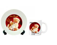 Cookies and Milk For Santa Set, Christmas Gift Set, Custom Gift Set, Personalized Gifts, Santa plate, Santa Mug by ForYouByRose on Etsy