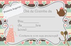 Princesas de Branco: Convites Chá de Cozinha (Para Imprimir)