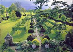 The Garden at Highgrove - Thyme Walk - There are more than twenty different sorts of Thyme, which were all brought on from cuttings and were originally planted by Prince Charles.