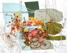 Shirley Trevena | Pink Teapot, Fruit