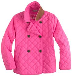 J.Crew Girls' quilted peacoat on shopstyle.com