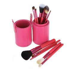 LKE® Professional 12 pcs Makeup Brush Set Cosmetic Make Up brushes Set With PU Storage bucket andHand Cleaning Glove(Pink) * Click image to review more details.