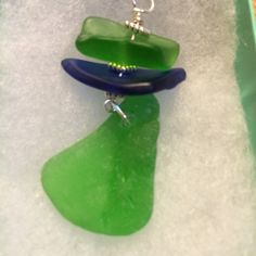 Blue green Texas sea glass