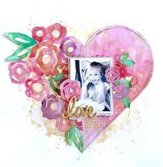 Shimmerz Education Team Project - Inklingz, Creameez & Blingz; Flower Heart cut file by Paige Evans