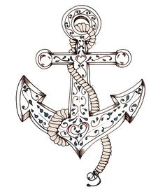 I love the small detail in this anchor! I'll decide between this one or having Ashley draw me one <3