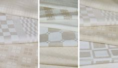 Beautiful linen squares