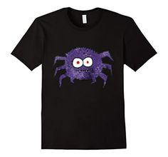 Men's Halloween Fang the Spider T-Shirt Large Black - Brought to you by Avarsha.com
