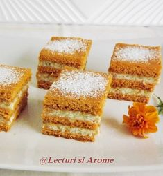Prajituri Archives - Page 13 of 22 - Lecturi si Arome Cookie Recipes, Vegan Recipes, Good Food, Yummy Food, Vegan Sweets, Mini Cakes, Afternoon Tea, Cornbread, Deserts