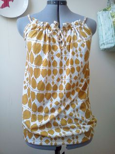Upcycled pillowcase top