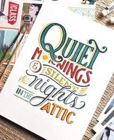 Beautiful Inspiring Ink & Watercolor Hand Lettering Projects by Abbey Sy Watercolor Hand Lettering, Brush Lettering Quotes, Hand Lettering Alphabet, Types Of Lettering, Typography Letters, Calligraphy Doodles, Calligraphy Quotes, Creative Lettering, Lettering Design