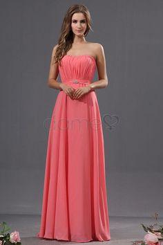 Chiffon Perlen Reißverschluss Strand elegantes & luxuriöses bodenlanges ärmelloses Brautjungfernkleid