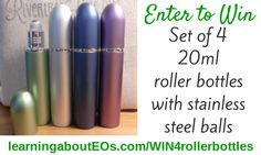 GIVEAWAY: Set of 4 Extra Large (20ml) Roller Bottles with Stainless Steel Balls   Learning About EOs - Using Essential Oils Safely