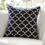 Navy Sandglass Accent Pillow | Kirklands