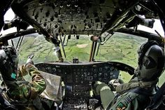 RAF Chinook Helicopter Over Wales