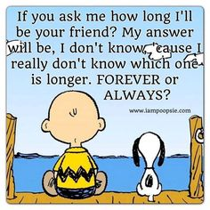 Charlie Brown and Snoopy~ True Friendship :) Cute Quotes, Great Quotes, Funny Quotes, Inspirational Quotes, Motivational, Golf Quotes, Peanuts Quotes, Snoopy Quotes, Charlie Brown Quotes