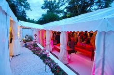 Marquee walkway joining two large marquees at a wedding in Stanmore, Harrow, London