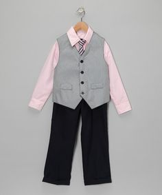 Take a look at this Pink Vest Set - Toddler by Well Suited: Boys' Attire on #zulily today!