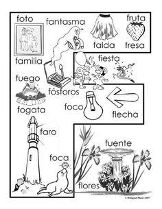 Use this as inspiration for students to make their own alphabet books in Spanish class and they can add new words inside the giant letter as they learn them Más Bilingual Classroom, Bilingual Education, Preschool Education, Spanish Classroom, Preschool Activities, Spanish Language Learning, Teaching Spanish, Speech And Language, Spanish Alphabet