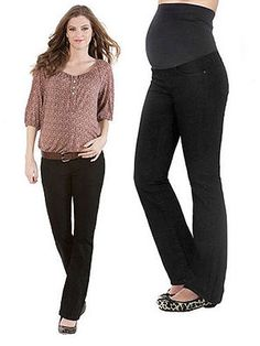 Best Maternity Jeans: Seraphine Black Overbump Babybootleg Maternity Jeans