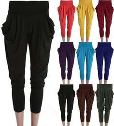 Fashion Women's Lady Stretch Colorful Drape Harem Pants Hip-Hop Trousers Hot