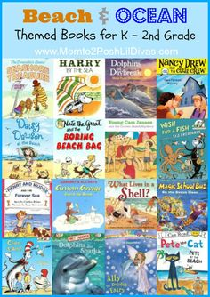 Beach themed books to go in sand or wagons  Mom to 2 Posh Lil Divas: Ocean Theme