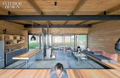 Perfectly Positioned: WMR's Sea Ranch Retreat | Projects | Interior Design - wood, concrete and grey palette - nice!